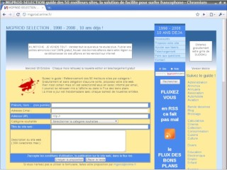 Guide des 50 meilleurs sites version 2008